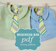 Patrón de costura negocios babero PDF