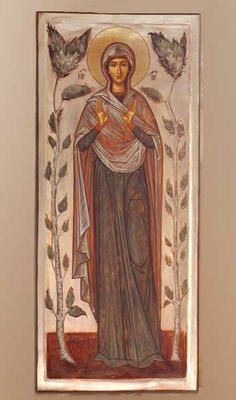 """Romanian__by Elena Murariu """" Heaven - Mother of God"""" Byzantine Icons, Byzantine Art, Religious Icons, Religious Art, St Clare's, Russian Icons, Spiritus, Best Icons, Art Icon"""