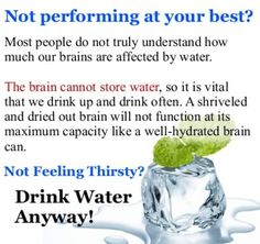 Drink Water Anyway!