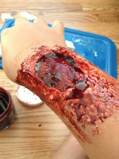 Picture of Zombie Bite Makeup Tutorial