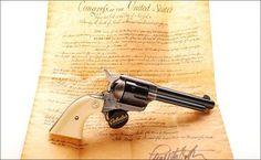"Colt SAA 2nd Gen .357 Mag, ivory grips, 5.5"" bbl"