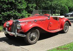 1955 MG TF 1500  MGTF  RED ROADSTER Antique English Car MG T series
