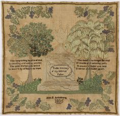Sampler (USA), 1835 | Objects | Collection of Cooper Hewitt, Smithsonian Design Museum