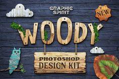 WOODY Photoshop Design Kit • Available here → https://creativemarket.com/GraphicSpirit/1103933-WOODY-Photoshop-Design-Kit?u=pxcr