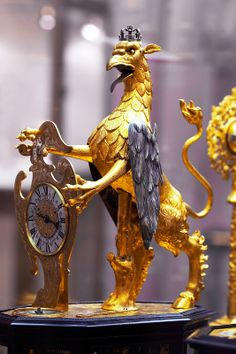 """1640 Renaissance Automaton """"Griffin"""" Table Clock The renaissance automaton """"Griffin: table clock pictured below is dated 1640 and it is from Augsburg. 1640!"""