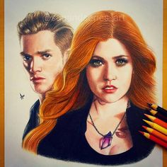 Clary and Jace ❤️❤️❤️❤️❤️❤️ #Shadowhunters #TMI #Clace