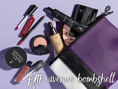 Younique Collections Fall 2017 || Fifth Avenue Bombshell ($195, a $237 Value)• 1 Moodstruck Brow Obsession Palette 1 Touch Glorious Face Primer 1 Touch Mineral Liquid Foundation 1 Touch Behold Setting Product 1 Moodstruck Minerals Blusher 1 Moodstruck Precision Pencil Lip Liner 1 Moodstruck Minerals Stiff Upper Lip Lip Stain 1 Moodstruck Minerals Lucrative Lip Gloss 1 Collection Bag—your choice of style
