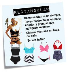 """""""Traje de baño figura rectangular"""" by mgnahra on Polyvore featuring moda, Post-It y Emma Pake"""