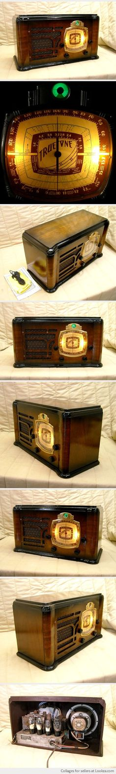Antique Wood Truetone Tube Radio