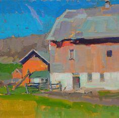 "Kyle Martin will be teaching ""Painting Door County Barns en Plein Air"" July 17-20. #oil #penartworks"