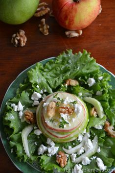 Apple season is upon us, and while I love all the braised, rich dishes that come with fall, a tangy, crunchy and fresh appetizer is always welcome. This salad is from an old issue of V… Great Salad Recipes, Waldorf Salad, Apple Season, Apple Harvest, Vinaigrette Dressing, Fresh Herbs, Victoria Magazine, Appetizers