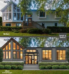 Are you looking for our best front door ideas for an easy simple curb appeal fix? If so, take a good look at your FRONT DOOR. Yes, it's that easy! Home Exterior Makeover, Exterior Remodel, Exterior Doors, Entry Doors, Exterior Paint, Modern Exterior, Exterior Design, Modern Home Exteriors, House Exteriors