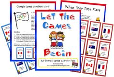 Freebie! Students will become familiar with the when and where of the Olympics with six activities and opportunities to extend.