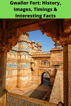 "Gwalior Fort History, Images, Timings, and Interesting Facts. Known as ""The Pearl Amongst Fortresses In India"", the Gwalior Fort is one of the best fortresses India Architecture, Beautiful Architecture, Most Haunted Places, History Of India, Catholic Priest, History Images, Madhya Pradesh, Indian Heritage, Interesting Facts"