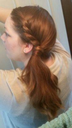 Lace twist into side pony