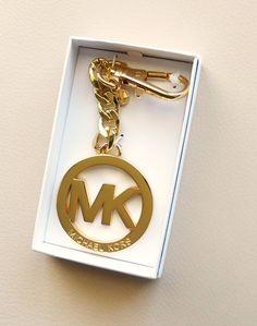 New Michael Kors Signature Charm Key Chain Gold in Gift Box #MichaelKors