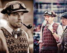 ALL THE AFFECTATIONS! In all seriousness, though, somehow Ewan McGregor is just making this all work. London Tweed Run.