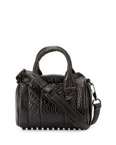 4ef78a11a1 Alexander Wang Mini Rockie Leather Satchel Bag