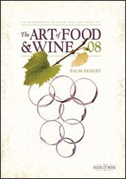 art of food & wine poster 2008