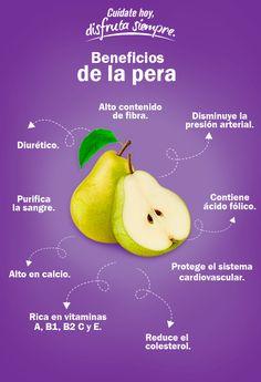 Incluir pera en la dieta diaria ayuda a mantener una salud óptima.