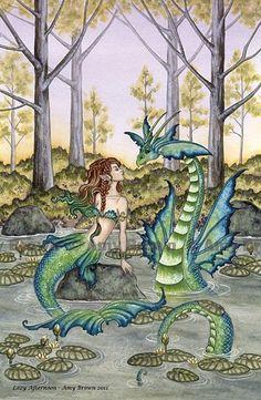 Mermaid & Dragon