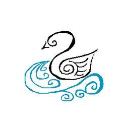 Swan Modern Cross Stitch Pattern Whimsical by CrossStitchDiva, $4.50