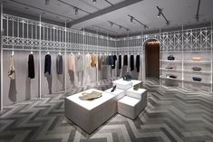nendo designs compolux women's luxury clothing shop in tokyo