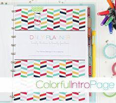 2013/2014 Daily Planner PDF Printable Pages - INSTANT DOWNLOAD - With Meal Planning