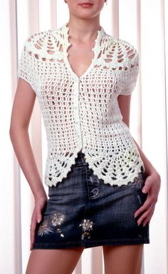 Summer Hot Crochet Jacket