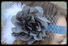 The Classy Claire Headband- GREY sparkleinpink.com Custom Headbands, Girly Girl, Claire, Girl Fashion, Pink, Grey, Women's Work Fashion, Gray, Girl Clothing