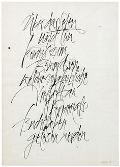 The Berlin Calligraphy Collection: Harald Schroeder