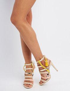Qupid Strappy Tassel Sandals: Charlotte Russe