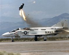Ejector seart test from YF Phantom at China Lake 1987