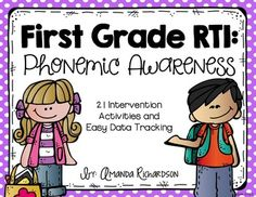 Does RTI scare you? Do you not know where to begin? I know JUST how you feel!! This intervention pack is filled with activities that support Response To Intervention for students in kindergarten, first grade, and even struggling second graders. It was created with the first grade learner in mind.