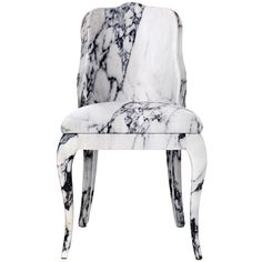 BALERI ITALIA Luigina Chair ($2,975) ❤ liked on Polyvore featuring home, furniture, chairs, accent chairs, white, white accent chair, baleri italia, white furniture e white chair