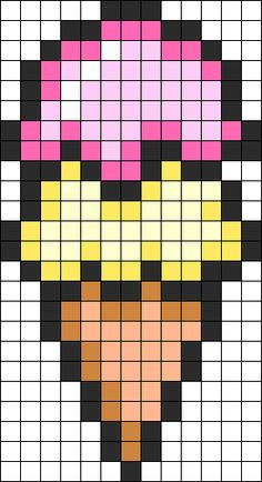 Ice Cream Perler Bead Pattern / Bead Sprite