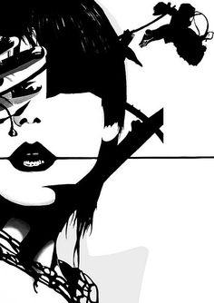 Punk Face Girl | Famous When Dead  #illustration | http://www.fwdead.co.uk/