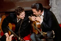 Bob Dylan and Johnny Cash, 1969 photo by Jim Marshall