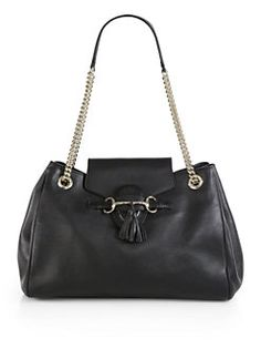 Gucci - Emily Leather Shoulder Bag