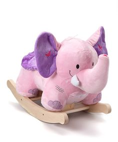 Take a look at the Bella the Pink Elephant Rocker on #zulily today! So cuteeee