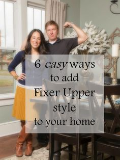 6 easy ways to add Fixer Upper style to your home... LOVE LOVE LOVE that show! Her style is so me... now if only I could remake my house like she would! Haha someday maybe but def not in a month!