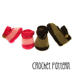PATTERN Tutorial Crochet Mary Jane Shoe  by TurtlekeeperDesigns