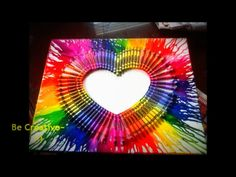 Crayon melting art @Abbi Shields we need to do this together!