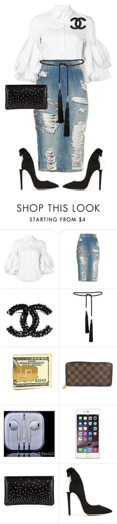 """Youth Sunday!!!"" by cogic-fashion ❤ liked on Polyvore featuring Christian Siriano, Rosetta Getty, Louis Vuitton, Christian Louboutin and Aleksander Siradekian"