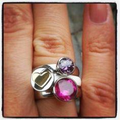 MelanO Twisted | Twisted ringen set, zilveren ringen met witte keramiek ring | http://www.sieradenstyle.nl/melano-ringen #melano #twisted #keramiek #zilver #ringen