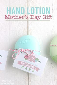Hand Lotion Mother's Day Gift + Tag - Thirty Handmade Days