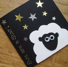 Ewe are a star. Sheep card for any occasion by onelittlepug Eid Crafts, Paper Crafts, Sheep Cards, Art For Kids, Crafts For Kids, Ramadan Decorations, Happy Eid, Preschool Art, Card Tags