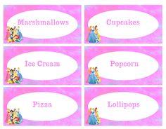 FREE Disney Princesses Food Labels