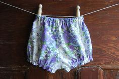 baby bloomers size 0 vintage purple