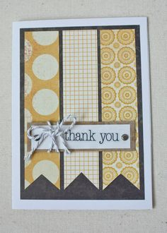 Handmade Thank You Card! See more at: www.facebook.com/LittleSomethingsCraftingCo